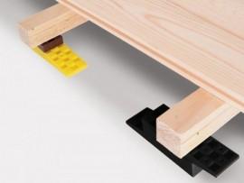 cales crantées pour mise à niveau terrasse bois