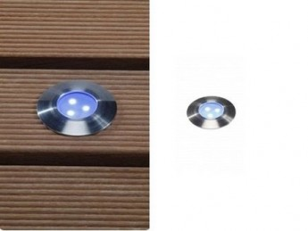 Spot Alpha - inox - bleu