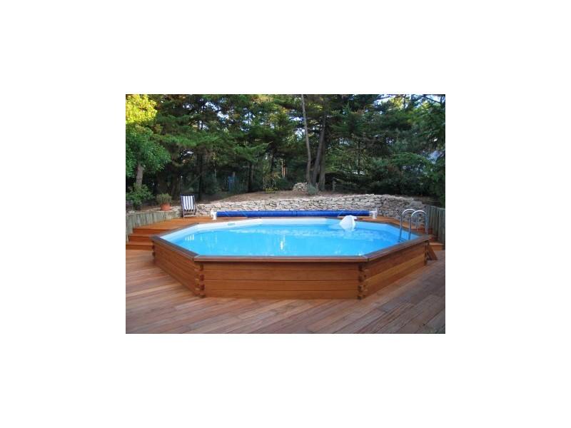 Kit piscine bois exotique montecristo tekabois for Kit piscine bois