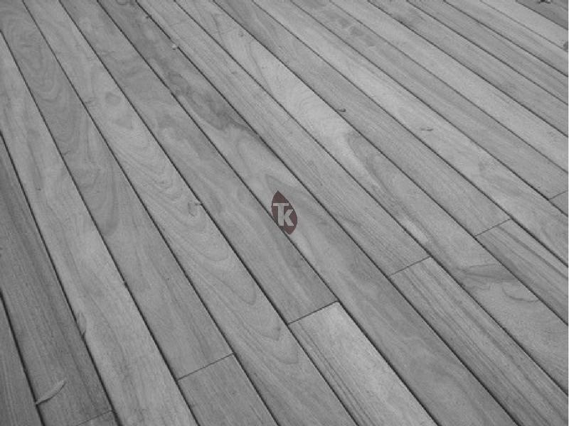 Lames de terrasse en bois exotique padouk biseaut tekabois - Terrasse bois padouk ...