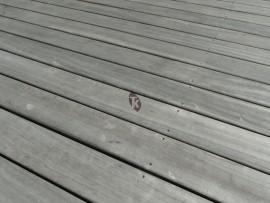 Terrasse en padouk grise