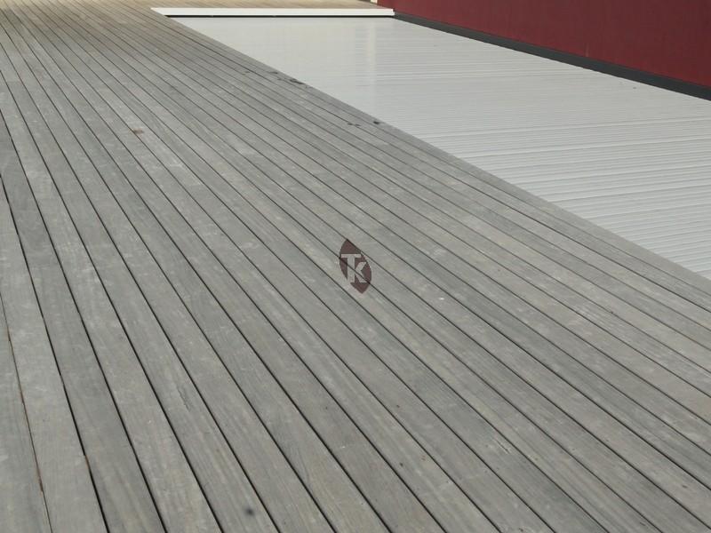 lames de terrasse en bois exotique padouk profil clip tekabois. Black Bedroom Furniture Sets. Home Design Ideas