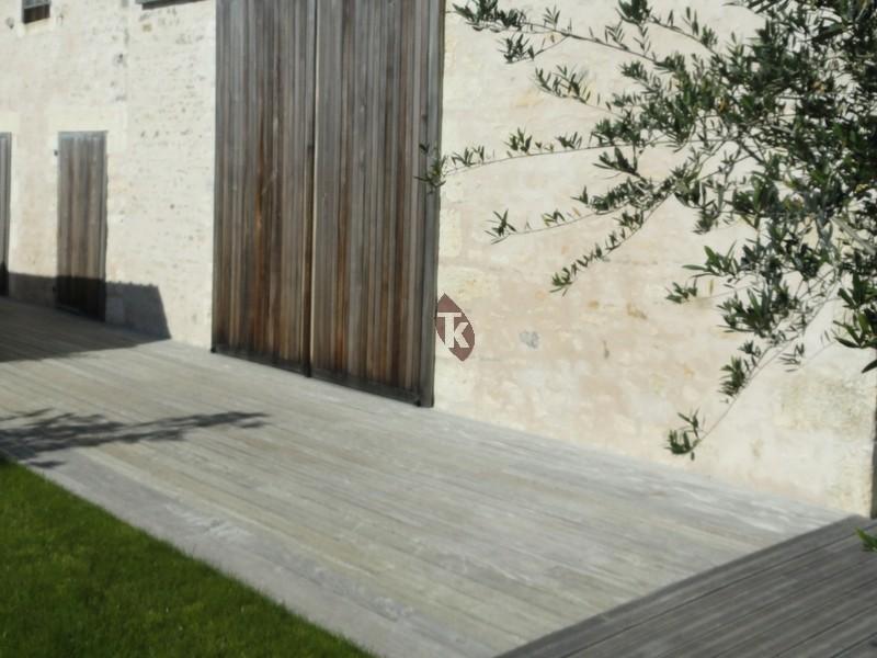 Lames de terrasse en bois exotique padouk profil clip - Terrasse bois padouk ...