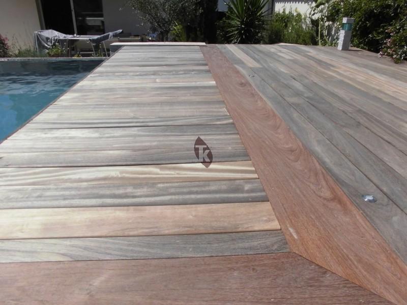 Lames de terrasse en bois exotique padouk tekabois - Terrasse bois padouk ...