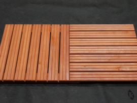 Caillebotis en bois Padouk 7 lames