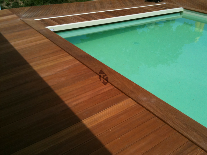 caillebotis bois pour coffret piscine en ip tekabois. Black Bedroom Furniture Sets. Home Design Ideas