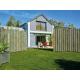Jardin clôture bois