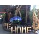 Lettre pour décoration ou assise en bois exotique