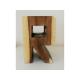 Lettre R en bois exotique