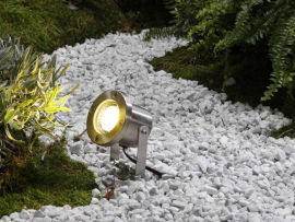 spot catalpa éclairage blanc chaud pour jardin