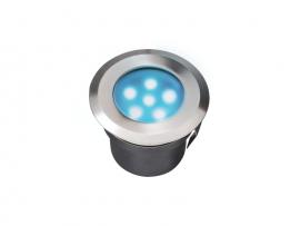 Spot de terrasse éclairage led bleu