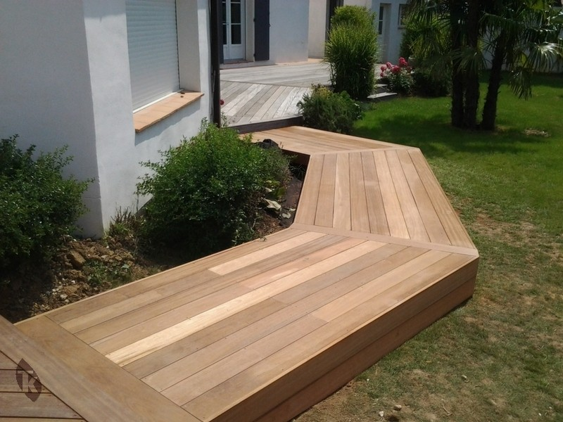 lames de terrasse en bois exotique bangkira 25 x 145 mm. Black Bedroom Furniture Sets. Home Design Ideas