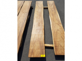 Plateau en bois exotique 60 x 400 x 3000 mm - modèle 1