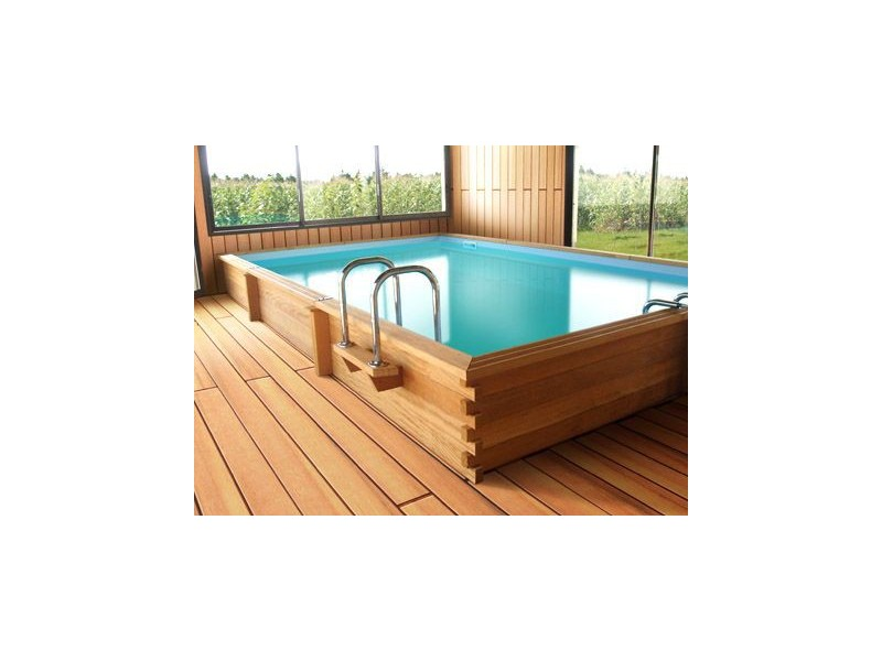 Kit piscine bois exotique montreal tekabois for Kit piscine bois enterree