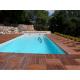 terrasse bois contour piscine dalles bois ipé