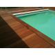 dalle bois ipé pour coffre de piscine