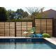 délimitation jardin - clôture bois