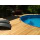 Lame terrasse bois exotique garapa 25 x 180 mm