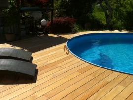 Lame terrasse bois exotique garapa Tekabois