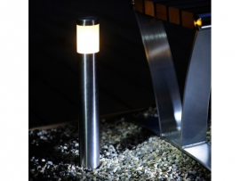 Lampadaire Albus inox luminaire extérieur