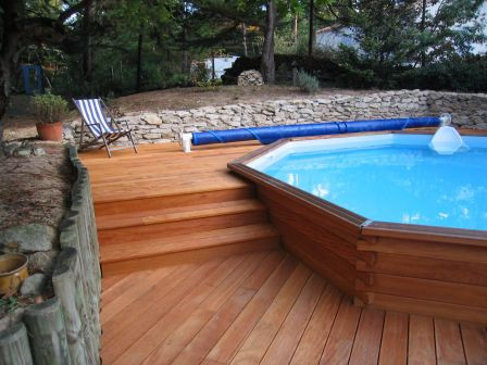 kit piscine bois exotique maupiti
