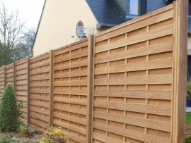 Poteau pour panneau clôture