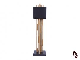 Lampe sur pieds en bois massif Teck STRIPE