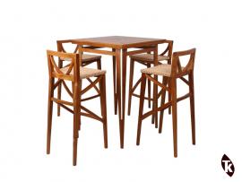 Table Bar et chaises en Teck BAYU