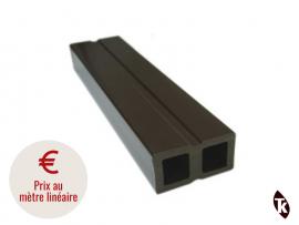photo lambourde bois composite pour terrasse