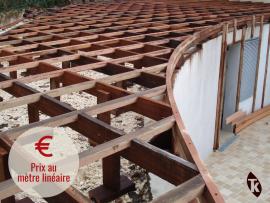 Solive bois exotique 45 x 148 mm pour terrasse